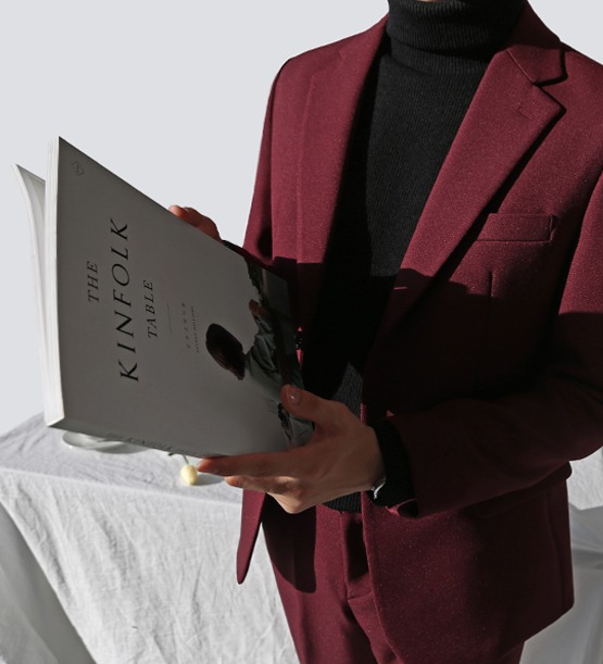 F/w single wine suit (1color)