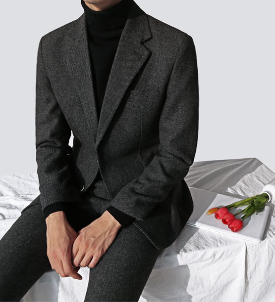 Dark Herringbone suit (1color)