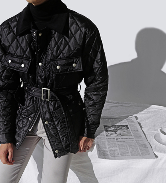 Quilting Barber jacket (2color)