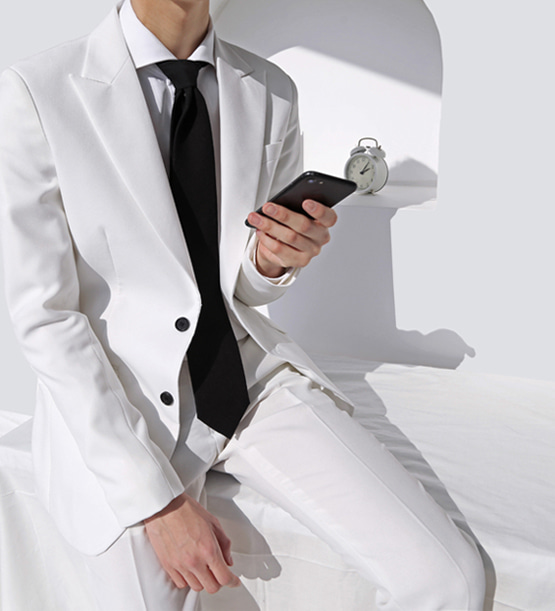 Anderson single white suit (1color)