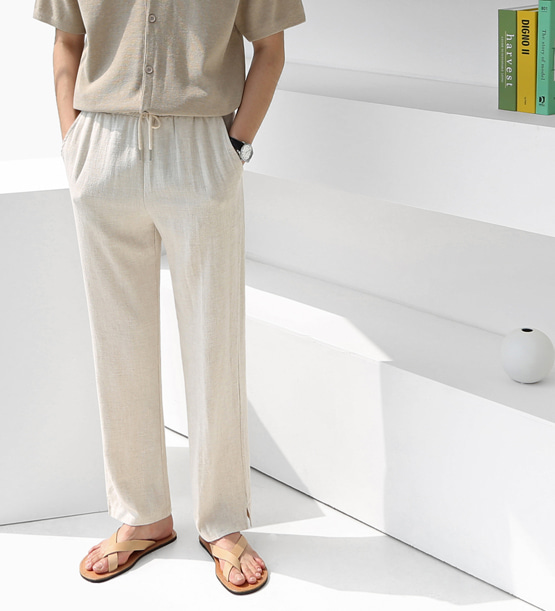 Memories linen wide slacks (3color)