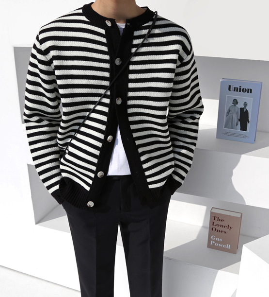 Telrin stripe cardigan (3color)