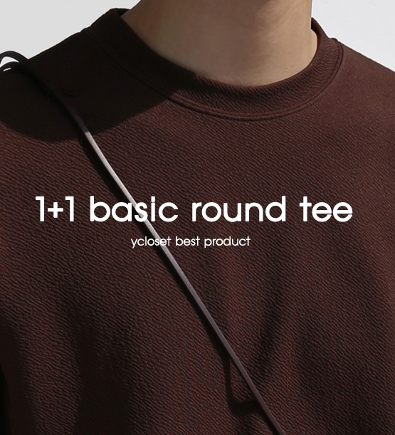 1+1 Sodel basic round tee (6color)