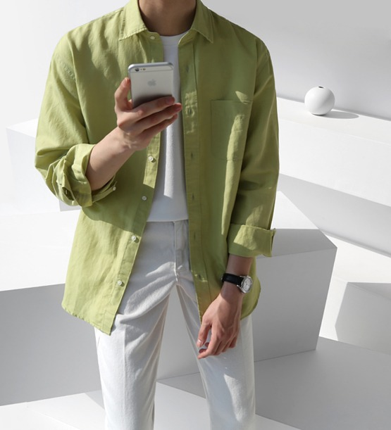 Capri linen standard shirt (5color)