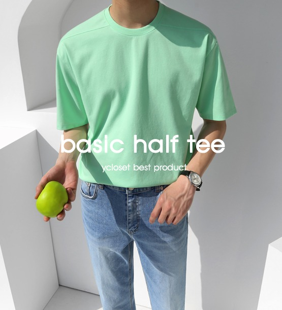Cool max half tee (15color) (추천상품)