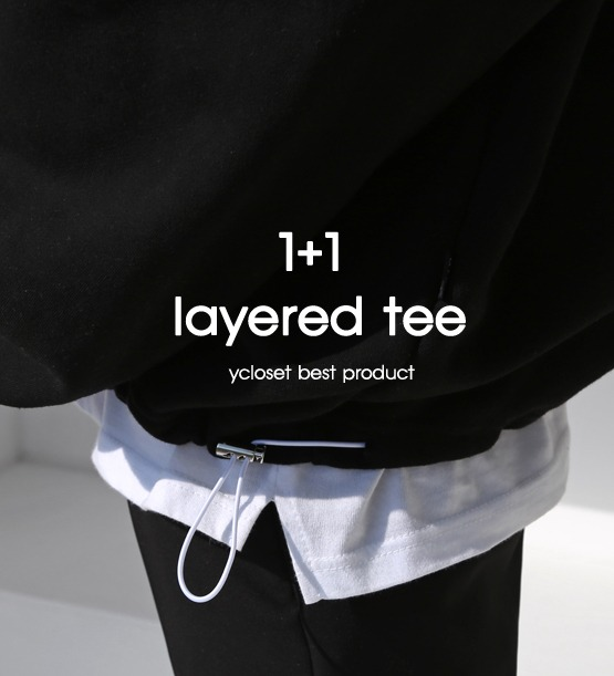 1+1 Layered half tee (3color)