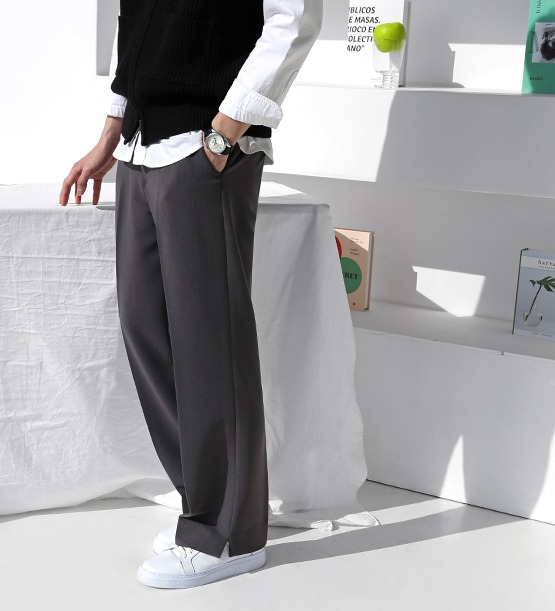 Bijou semi wide slacks (3color)